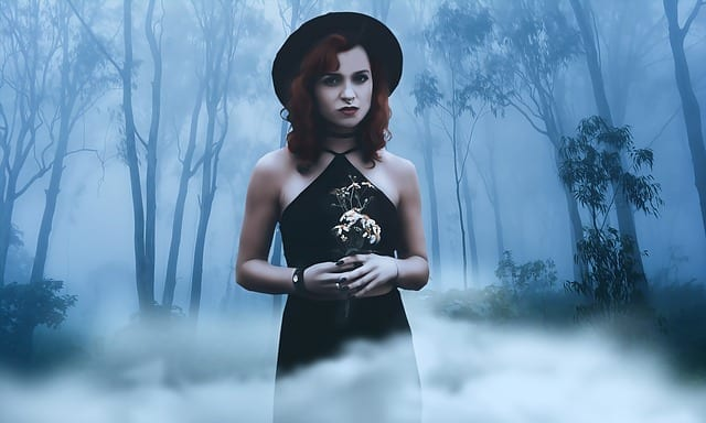 dark woman photo